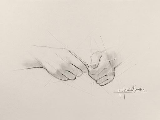 Fernando GARCIA MONZON - 水彩作品 - Manicure 1