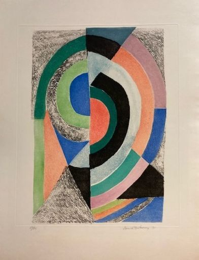 Sonia DELAUNAY - Stampa-Multiplo - Demi-cercles
