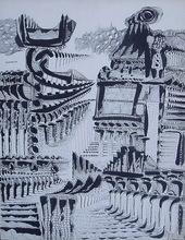 Eugenio Fernandez GRANELL - Dibujo Acuarela - TARNAUD ( PARA LIBRO I)