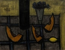 Bernard BUFFET - Painting - Nature Morte aux Tranches de Melon