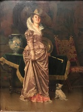 Francesco VINEA - Painting - Woman in Interior Setting