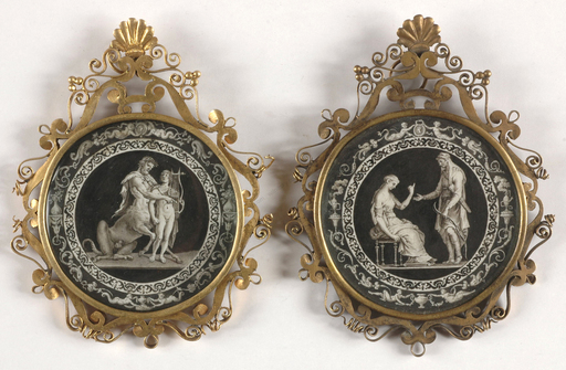 "Jacques Joseph DE GAULT - Miniatur - ""Two miniatures with mythological scenes"", late 18th c."
