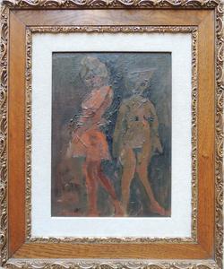 Mino MACCARI - Peinture - Signorine