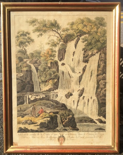 Balthasar Anton DUNKER - Drawing-Watercolor - Chutes de Douane