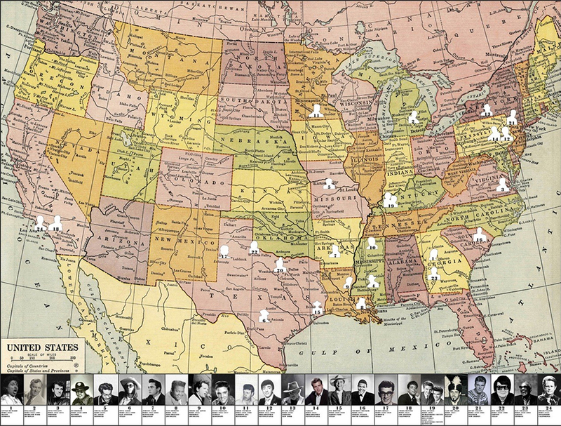 Peter BLAKE - Estampe-Multiple - Rockn'roll map