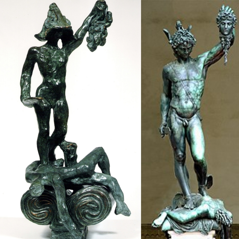 Salvador DALI - Sculpture-Volume - Perseus with the Head of Medusa: Homage to Cellini