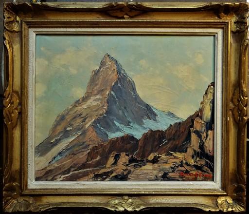 Étienne BOVIER-LAPIERRE - Painting - Le mont Cervin