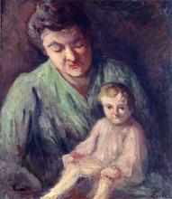 马克西米·卢斯 - 绘画 - Mère et enfant