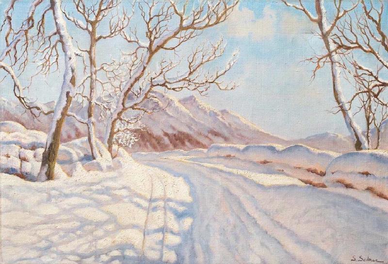 Serge SÉDRAC - Peinture - Winter landscape