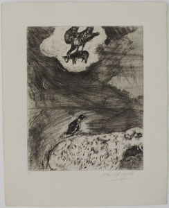 Marc CHAGALL - Estampe-Multiple - The Crow who wanted to imitate the Eagle