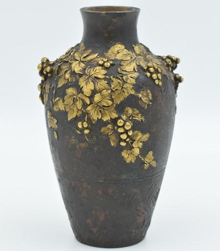 Paul LOUCHET - Vase bronze double patine