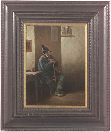 Eugène COTTIN - Painting - Veteran, Oil Painting, late 19th Century