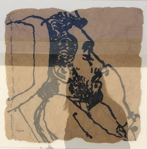 Ladislas KIJNO - Zeichnung Aquarell - Autoportrait