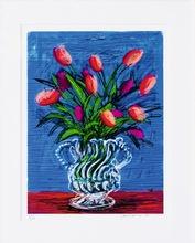 David HOCKNEY (1937) - iPad drawing red tulips