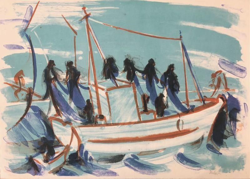 Jean HÉLION - Estampe-Multiple - Force de la mer V