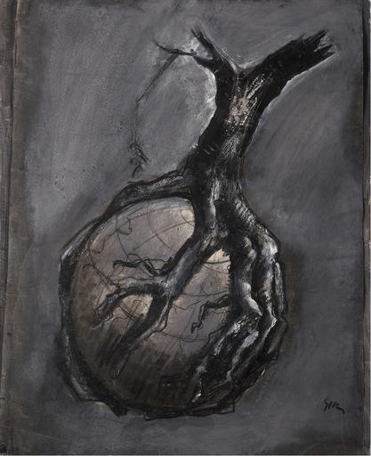 Mario SIRONI - Drawing-Watercolor - L'albero maledetto