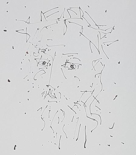 Paul AIZPIRI - Dessin-Aquarelle - Le christ