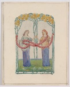 """Adolf MÜNZER - Gemälde - """"Art Nouveau Design"""" Adolf Muenzer, Watercolour, 1906"""