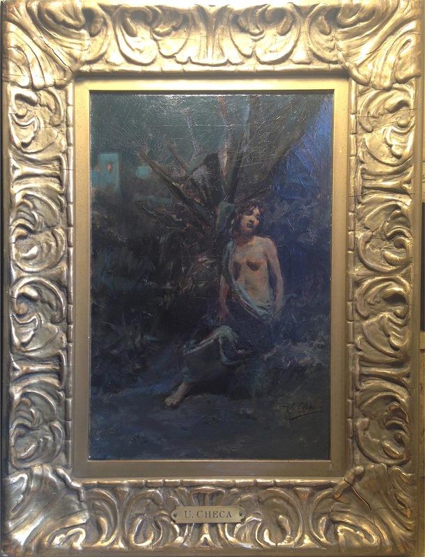 Ulpiano CHECA Y SANZ - Gemälde - Capri - Desnudo / nu