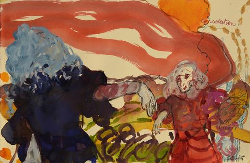 Sandra DETOURBET - Painting - Consolation