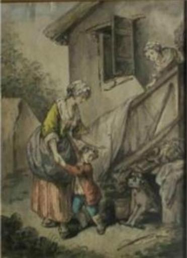 Charles BENAZECH - Pintura - L'enfant effrayé
