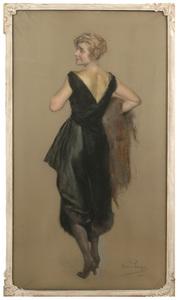 "Clemens VON PAUSINGER - Pintura - Clemens von Pausinger (1855-1936) ""Portrait of  a lady"" 1921"