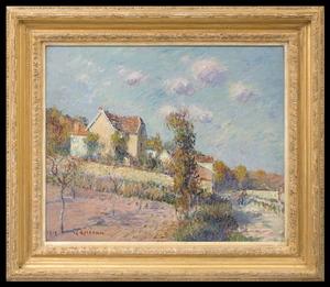 Gustave LOISEAU - Pintura - Paysage d'Automne (Auvers sur Oise)