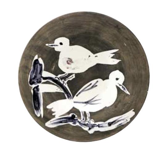 Pablo PICASSO - Ceramic - Deux oiseaux