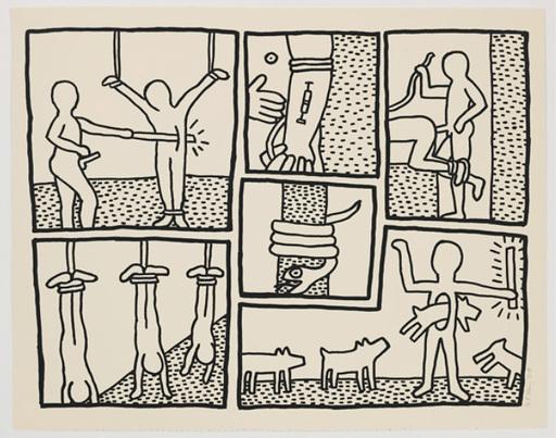 Keith HARING - Grabado - Blueprint Drawing #5