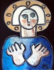 Antonio GARCÍA PATIÑO - Pintura - Virgen