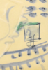 Horst JANSSEN - 水彩作品 - Seated Lady