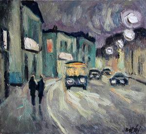 Valeriy NESTEROV - Gemälde - Sretenka street. Moscow