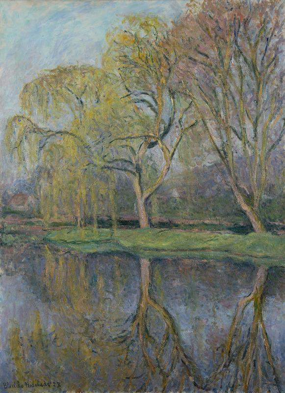Blanche HOSCHÉDÉ-MONET - Painting - Le Printemps (Le bassin aux nymphéas à Giverny)