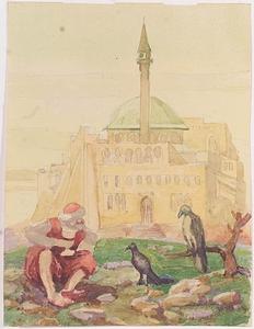 "Rudolf BLUM - Zeichnung Aquarell - ""Illustration"", Watercolor, ca.1920"