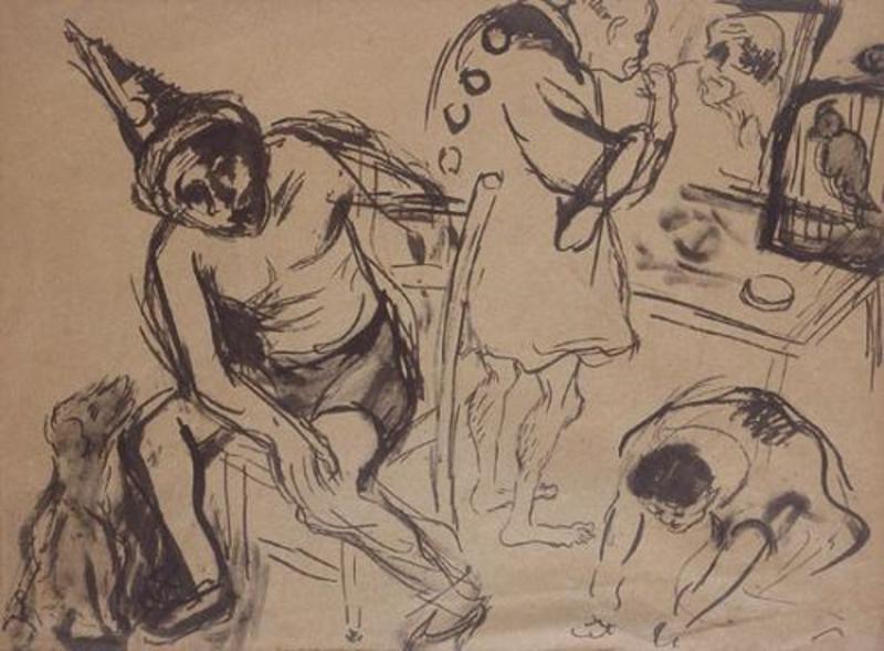 Issachar Ber RYBACK - Drawing-Watercolor - Circus