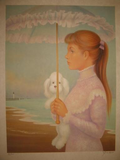 Guy SÉRADOUR - 版画 - L'ombrelle,1981.