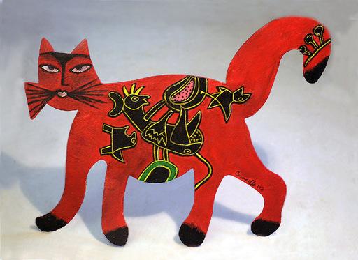 CORNEILLE - Sculpture-Volume - Chat Exotique des Iles du sud