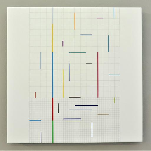Laszlo OTTO - Painting - Composition & relation-grids
