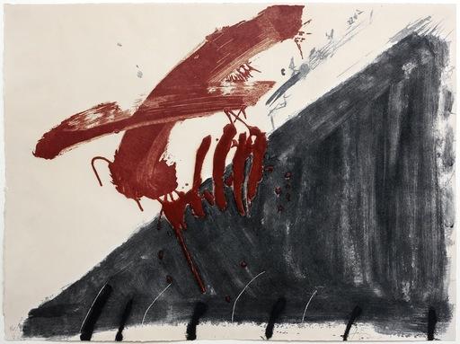 Antoni TAPIES - Print-Multiple - Negre i roig series (Quatre ditades)