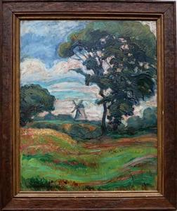 Walter OPHEY - Pintura - « Windmill in the region of Eupen »