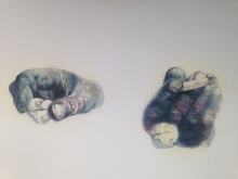 Renzo VESPIGNANI - Painting - le mani