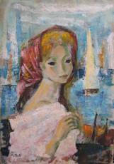Boris SIMON - Pintura - Femme au Port