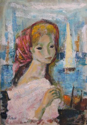Boris SIMON - Painting - Femme au Port