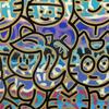 CHANOIR - Painting - Chas Avec Un Cœur En Or