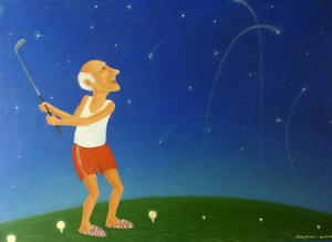 Roman ANTONOV - Painting - Star golf