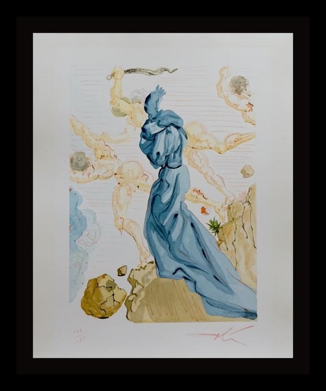 萨尔瓦多·达利 - 版画 - Divine Comedy Hell Canto 19