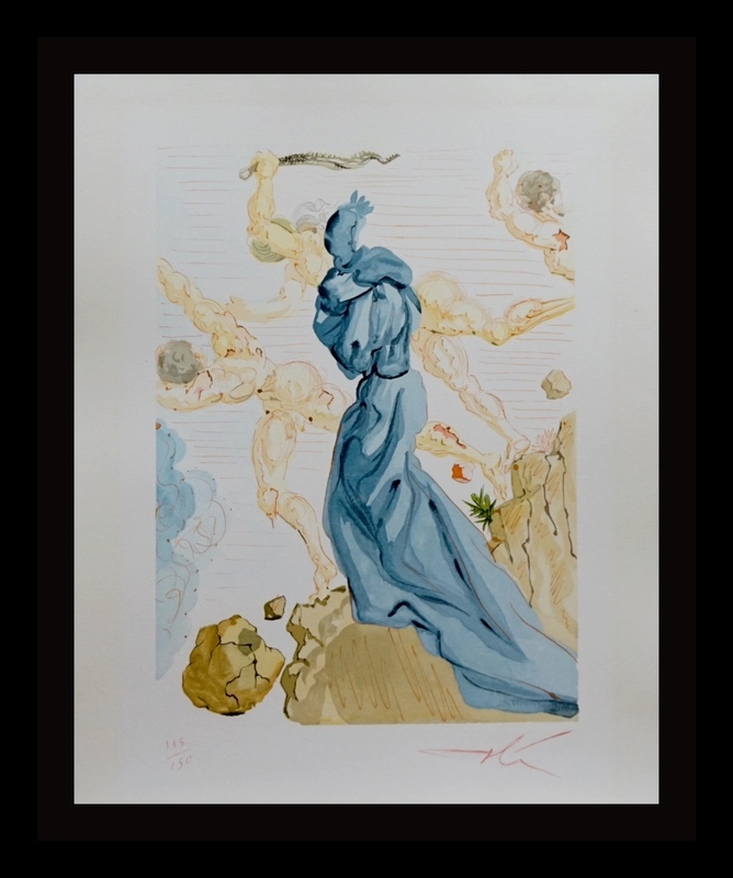 Salvador DALI - Stampa-Multiplo - Divine Comedy Hell Canto 19