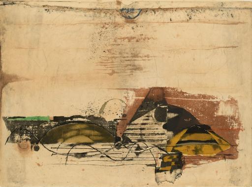 Johnny FRIEDLAENDER - Print-Multiple - Paysage jaune