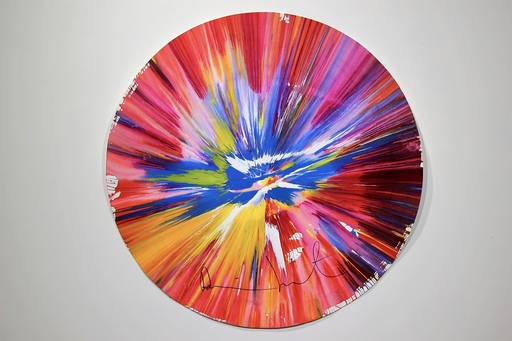 Damien HIRST - Painting - Circle Spin Painting