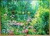 Max AGOSTINI - Pintura - Flowered pond in Giverny / Bassin fleuri